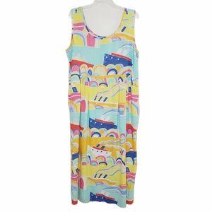 Jams World Vintage Sleeveless Maxi Dress XL